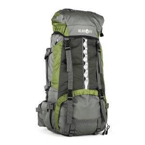 Heyerdahl Sac à dos trekking randonnée camping 70 litres + housse -vert Vert