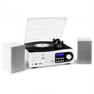 Stereo System LP CD USB SD MMC MP3 TP FM White