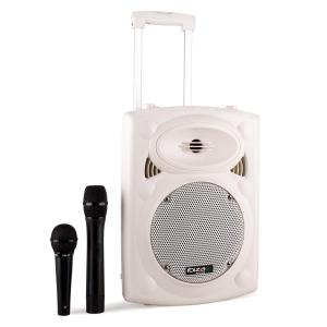 "Port8VHF-BT Portable PA Speaker Bluetooth USB SD 400W White White | 20 cm (8"")"