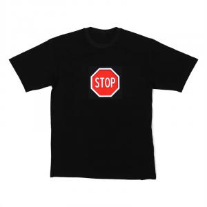 LED-shirt STOP maat M