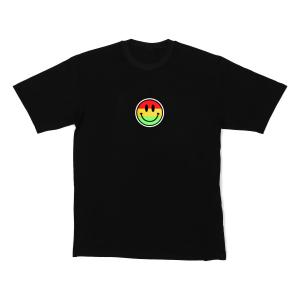 LED-shirt Color Smiley maat L