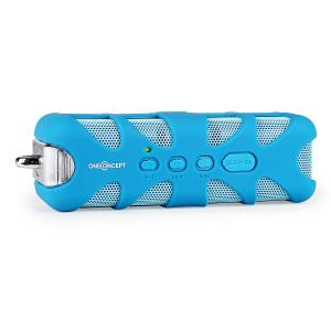 oneConcept Blue Know - Altavoz Bluetooth AUX azul