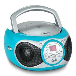 CD 512 odtwarzacz CD MP3 radio AM/FM AUX turkusowy Turkusowy