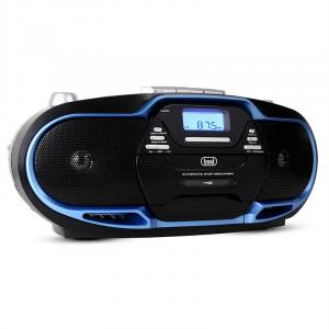 CMP-574 Boombox CD MP3 USB gravador de cassetes AM/ FM Radio azul