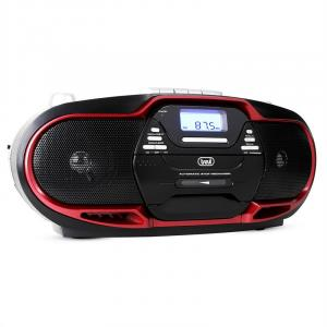 CMP-574 mankka CD MP3 USB kasettisoitin AM/FM-radio punainen