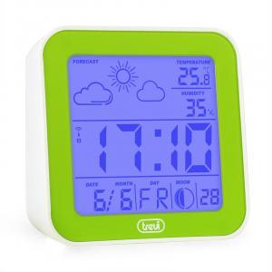 ME-3105 Réveil Station météo thermomètre hydromètre -vert Vert