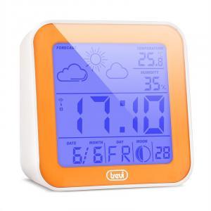 ME-3105 Réveil station météo baromètre phase lunaire orange Orange