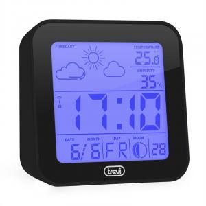 ME-3105 Weather Station Alarm Clock Thermometer Hygrometer Moon Phases Black Black