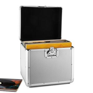 Tidskapsel aluminium-väska för grammofonskivor vinyl-case 70 styck LP silver Silver