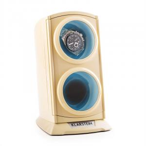 St. Gallen Premium Watch Winder 2 Watches LED Cream Creme