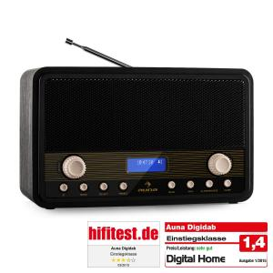 Digidab Retro DAB-Digitalradio UKW PLL Dual-Alarm Snooze Sleep-Timer