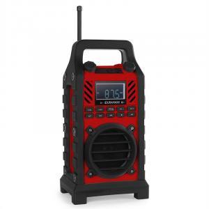 862-BT-RD głośnik budowlany MP3USB SD AUX czerwony Czerwony