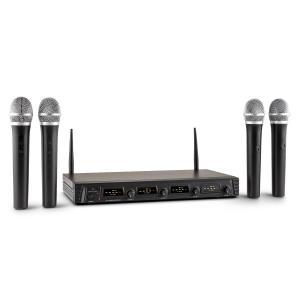Duett Quartett Fix V1 Conjunto de Microfones Headset Sem Fios Wireless 4 canais UHF 50 m 4 x microfones manuais