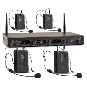 Duet Quartet Fix V3 4-Channel UHF Wireless Microphone Set 50m 4 x Headset-Microphone
