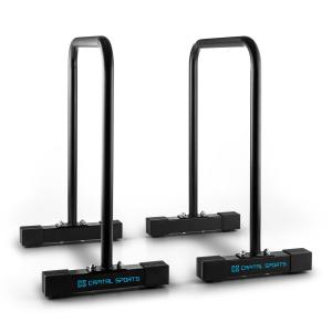 Black Core Equalizer Dip / Push Up Bars Full Body Workout Black