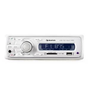 MD-120 Autoradio USB SD MP3 Line-Out -blanc