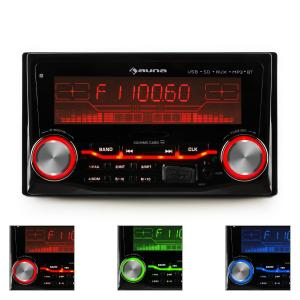 MD-200 2G BT Autoradio USB SD MP3 Bluetooth 3 couleurs