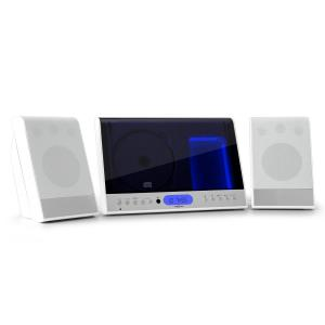 90 Stereo verticale CD USB ​​MP3 AUX bianco bianco