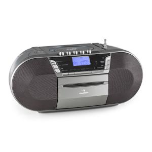 Jetpack Portable Boombox USB CD MP3 FM Battery Grey Grey
