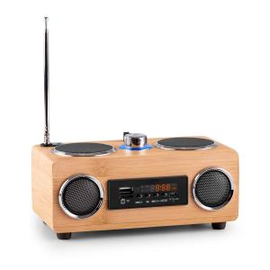 Bamboost 3G Bamboo Portable Stereo Speaker FM Radio USB SD Aux