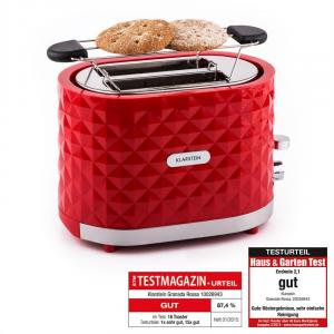Granada Rossa Toaster 2 Slots 1000 W Red Red