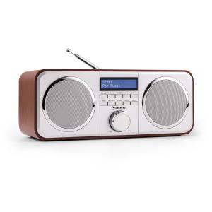 Georgia DAB-radio DAB+ FM presets väckarklocka AUX körsbärsfärgad Körsbär
