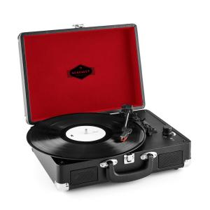 Peggy Sue Suitcase Retro Turntable LP USB Black Black
