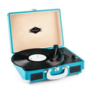 Peggy Sue Retro Suitcase Turntable LP USB Blue Blue