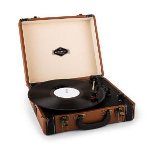 Jerry Lee Retro Record Player Turntable LP USB Brown Brown