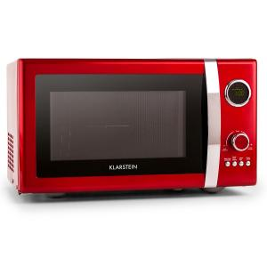 Fine Dinesty 2in1 Microwave Oven Retro 23L 800W 12 Programs Red Red