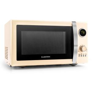 Fine Dinesty 2in1 Microwave Oven Retro 23L 800W 12 Programs Cream Creme