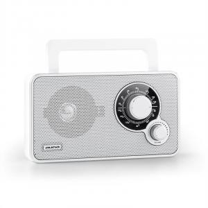 RR-5 portables Retro-Radio UKW AUX Batteriebetrieb weiß