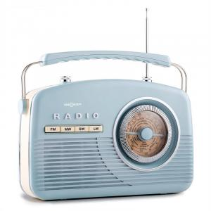 NR-12 Retro 50s Portable Radio AM/FM Baby Blue