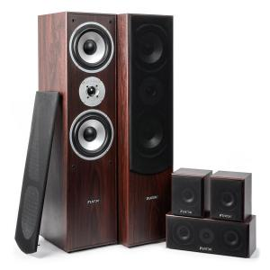 5.0 home cinema systeem 335w RMS notenboomafwerking