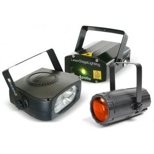 Light Package 4 Disco Set Macchina Effetti Luce Laser Stroboscopio