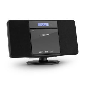 V-13 Stereoanlage CD MP3 USB Radio Wecker schwarz Wandmontage Schwarz | CD-Player