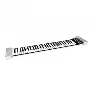 Stereo Roll-Up Piano 61 Keys Keyboard Silver Silver