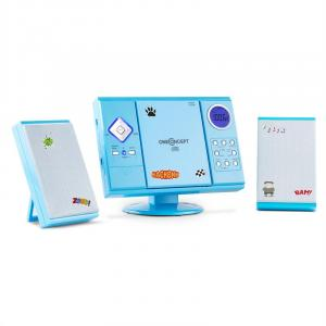 V-12 Stereoanlage MP3-CD-Player USB SD AUX Blau Sticker Blau