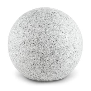 Shinestone XL Lampe de jardin ronde 50cm Style pierre Gris | 50 cm