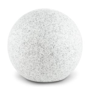 Shinestone M Lampe de jardin ronde 30cm Style pierre Gris | 30 cm