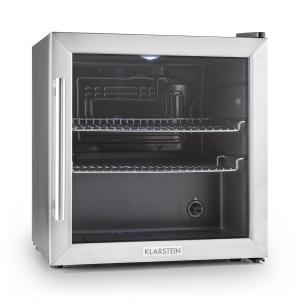 Beersafe L Réfrigérateur 50 litres Classe B Porte en verre Acier Argent | 50 Ltr