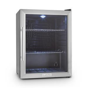 Beersafe XL compact fridge 65 litre class b glass door Silver | 60 Ltr