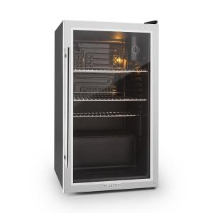 Beersafe XXL Fridge Refrigerator 80 L Class A+ Glass Door Stainless Silver | 80 Ltr