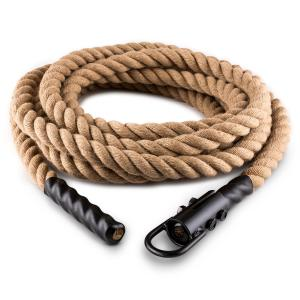 Power Exercise Rope with Hook 9m 3.8cm Hemp Ceiling Mounting 9 m