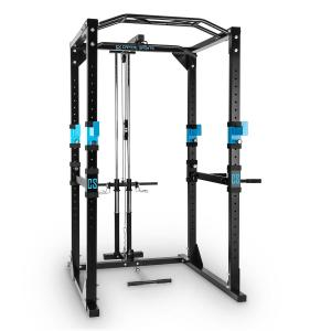 Tremendour Plus Power Rack Home Gym Lat Pulldown Steel Black | With lat pull