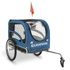 King Rex Portable Dog Trailer 250l 40kg Steel Tube Black-Blue Blue