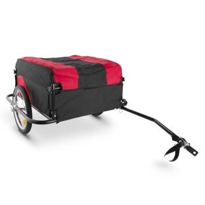 Mountee Bicycle Trailer Load 130l 60kg Steel Tube Black-Red Red