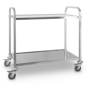 The Great Gatsby Catering Trolley Cart 2 Shelves Stainless Steel 2 levels