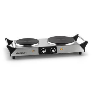 Cookorama Double Hot Plate Hob 2500W Stainless Steel Silver