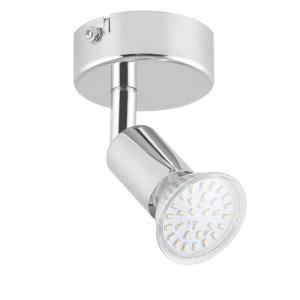 Kvalfoss 1 Wall Ceiling Spot Lamp LED Rotatable Swivel Chrome